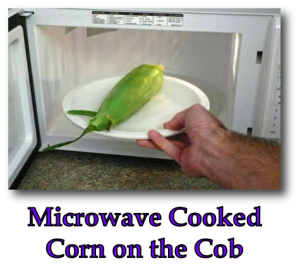 Microwave Cooked Corn on the Cob