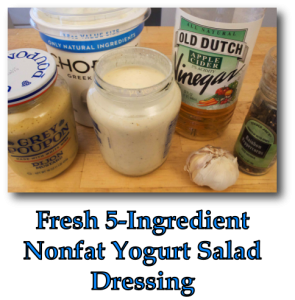 Fresh 5-Ingredient Nonfat Yogurt Salad Dressing