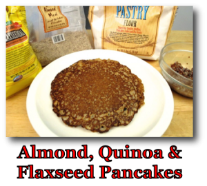 Almond, Quinoa & Flaxseed Pancakes