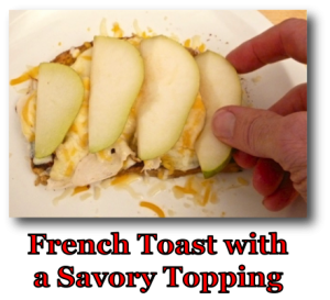 French Toast with a Savory Topping