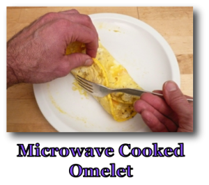 Microwave Cooked Omelet