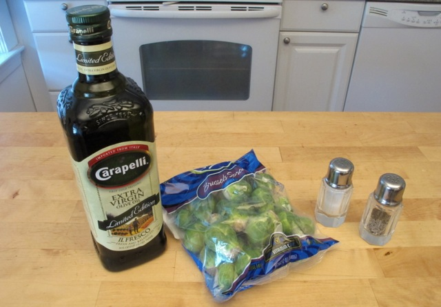 Ingredients needed to make Brussels Sprouts Chips