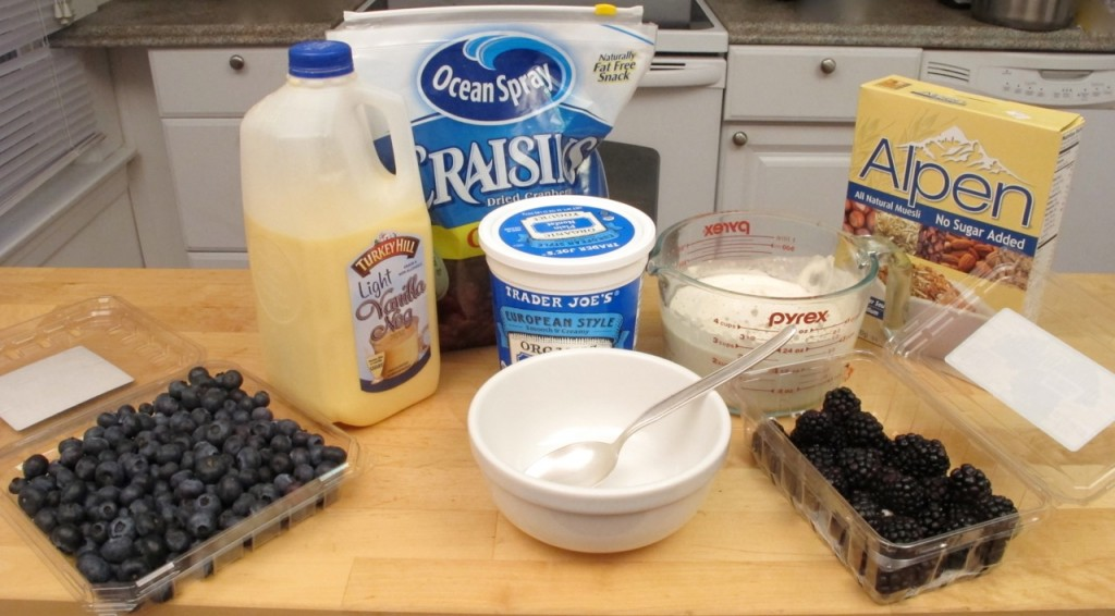 Hot or Cold Cereal with Egg Nog Ingredients & Equipment