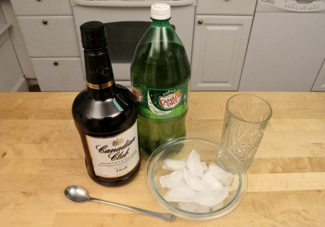 Needed to make Whiskey & Ginger Ale