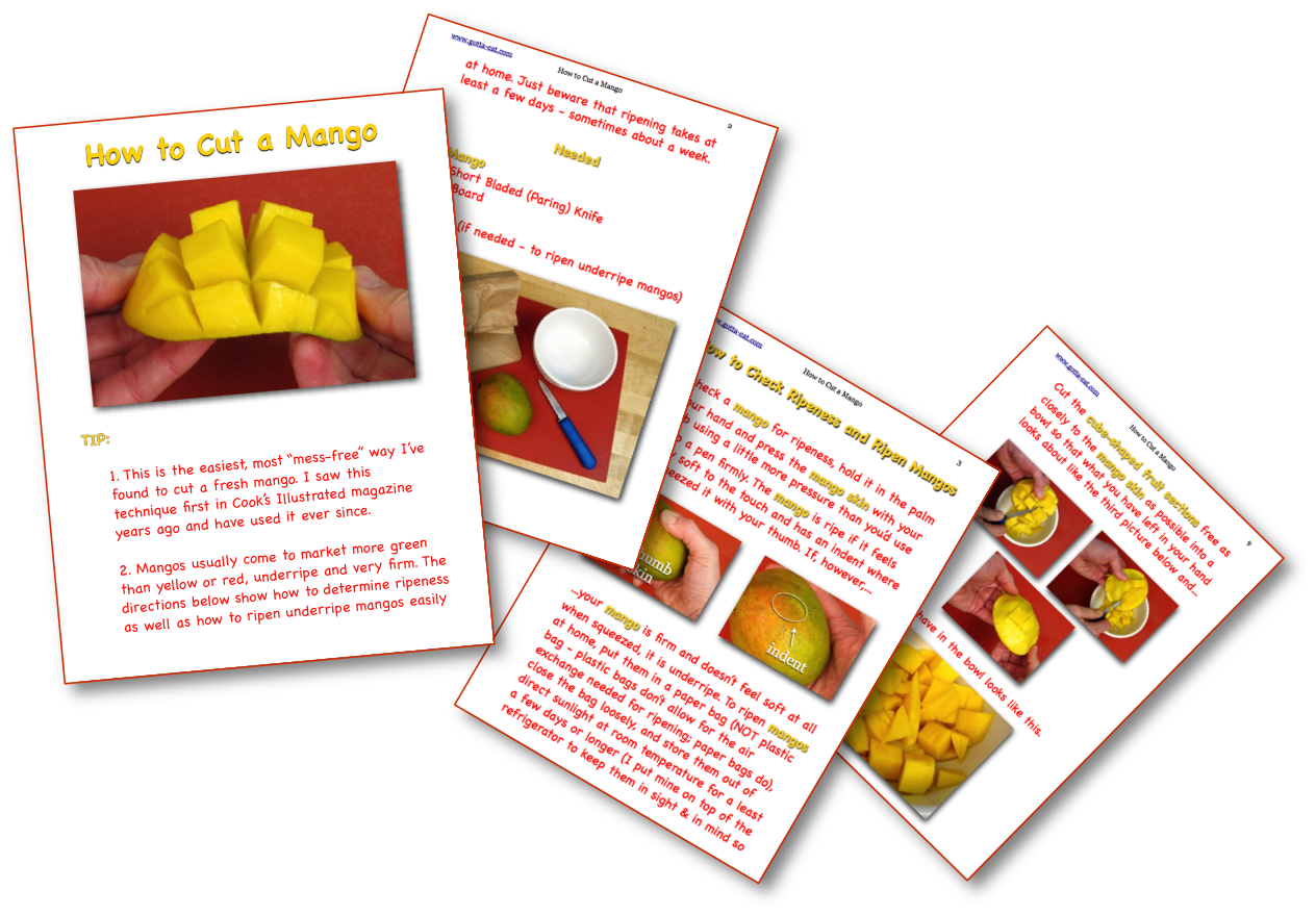 How to Cut a Mango Picture Book Recipe pages