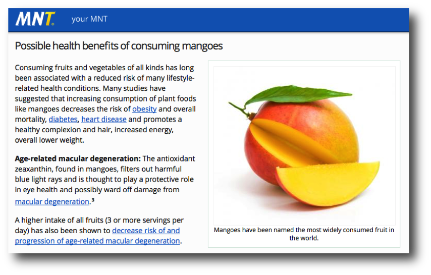 Medical News Today Mango Article