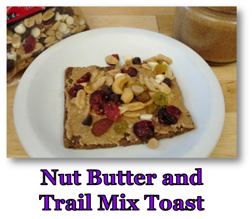 Nut Butter & Trail Mix Toast