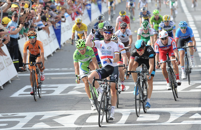 Finish of Stage 5 July 3, 2013