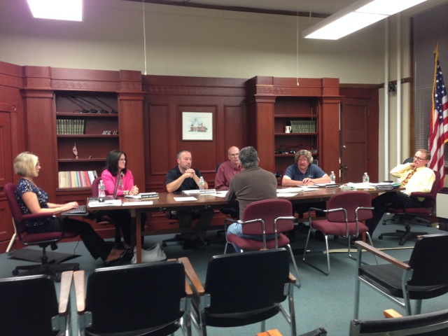Don Burn discusses BWALT trail progress with Westborough Planning Board
