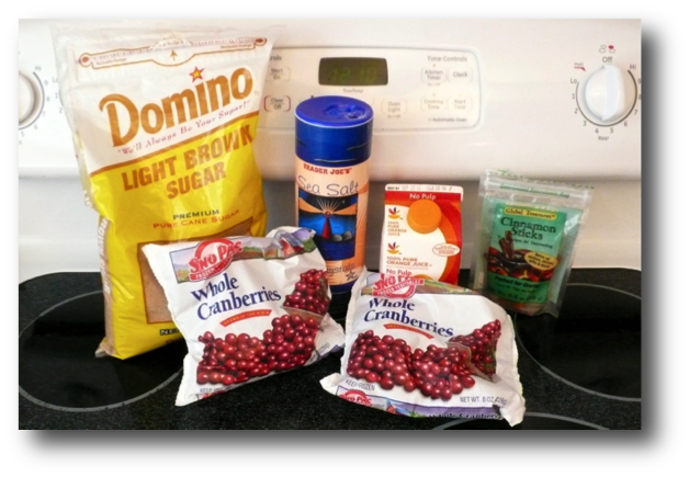 Fresh Cranberry Sauce Ingredients
