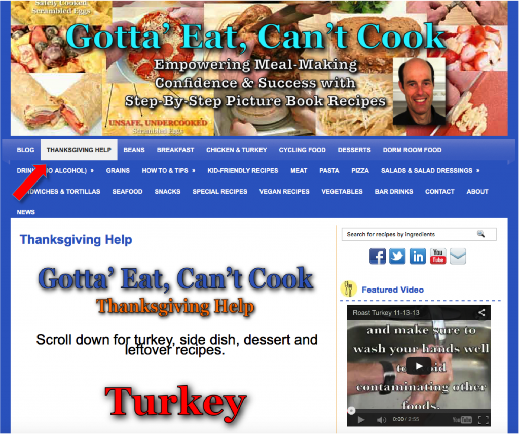 Thanksgiving Help Page