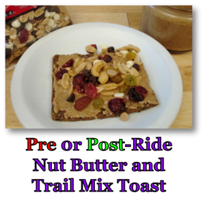 Pre or Post-Ride Nut Butter and Trail Mix Toast