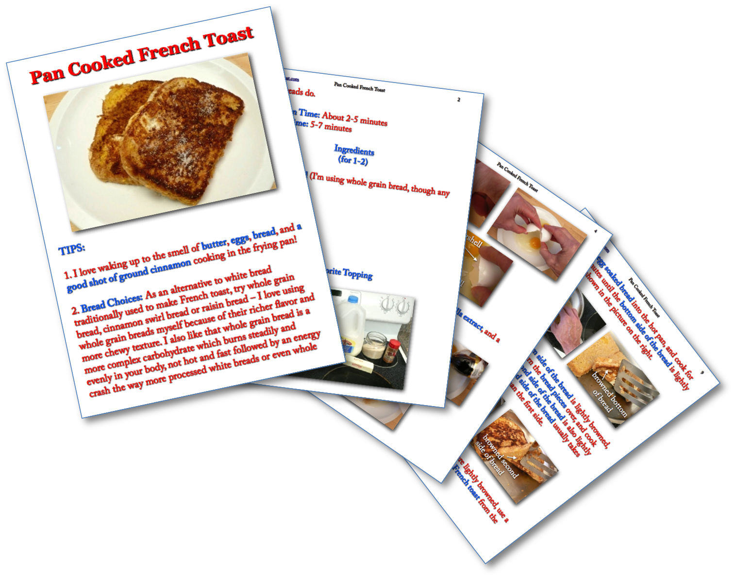Pan Cooked French Toast Picture Book Recipe