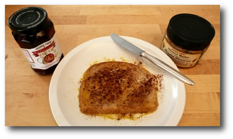 French Toast with Nut Butter & Jam Ingredients