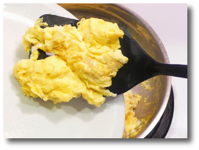 Pan Cooked Scrambled Eggs