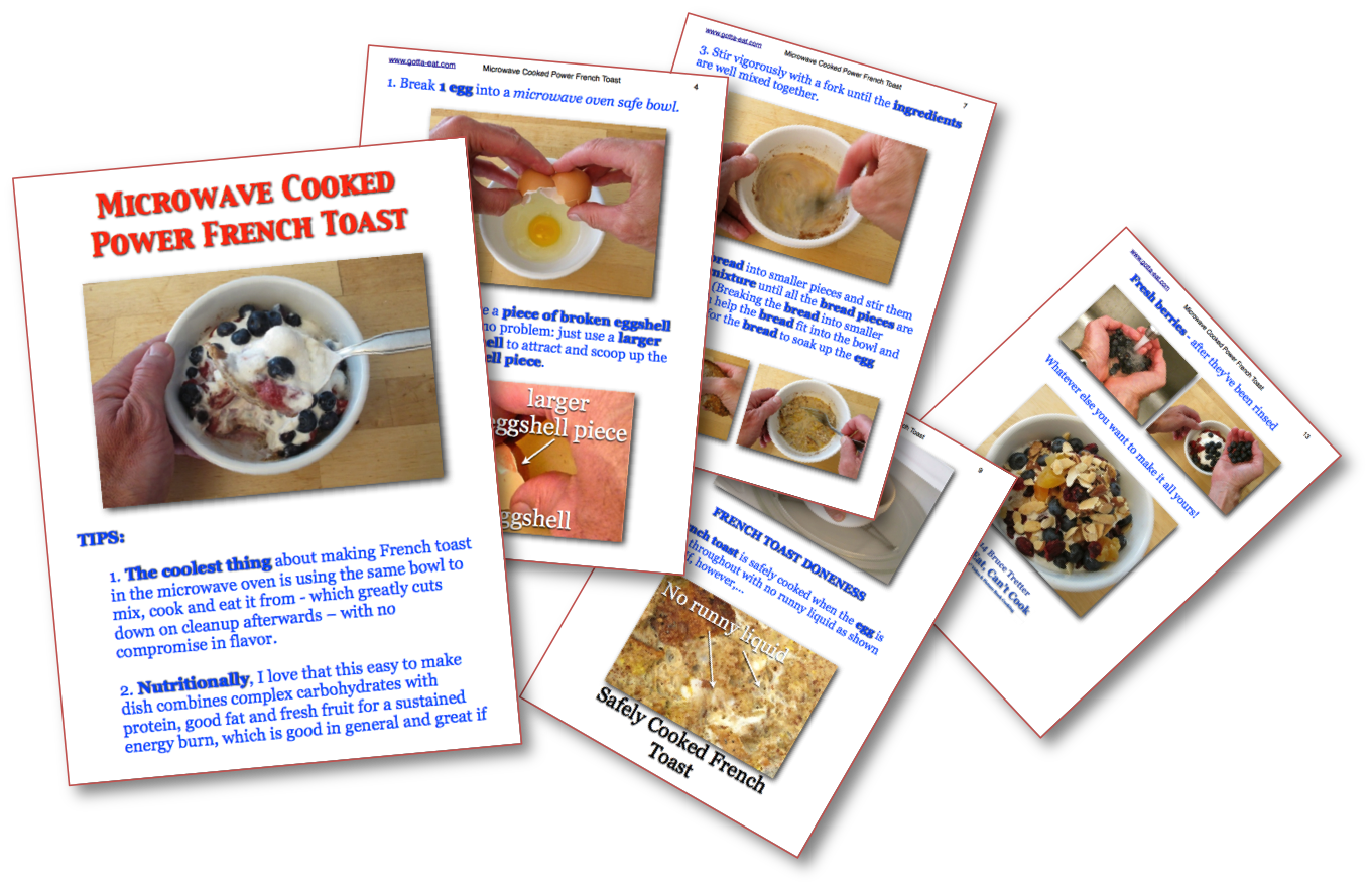 Powering Up With Microwave Cooked Power French Toast €� All In Pictures