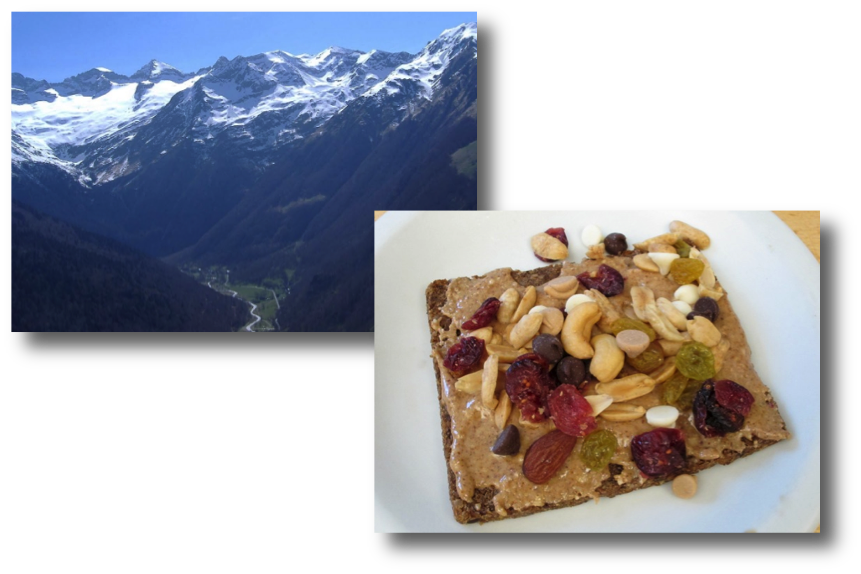Pyrenees & Nut Butter and Trail Mix on Toast
