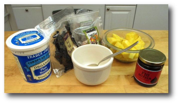 Pineapple, Yogurt, and Jam Ingredients