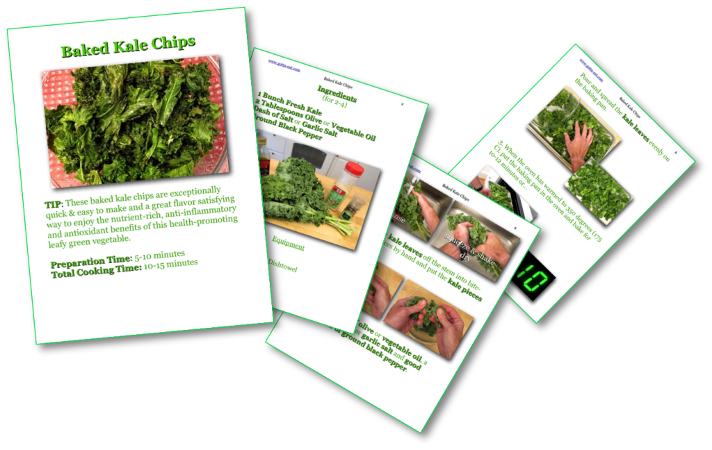 Baked Kale Chips Picture Book Recipe