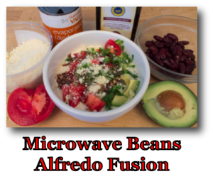 Microwave Beans Alfredo Fusion