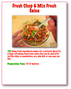 Fresh Chop and Mix Salsa Step-By-Step Picture Recipe