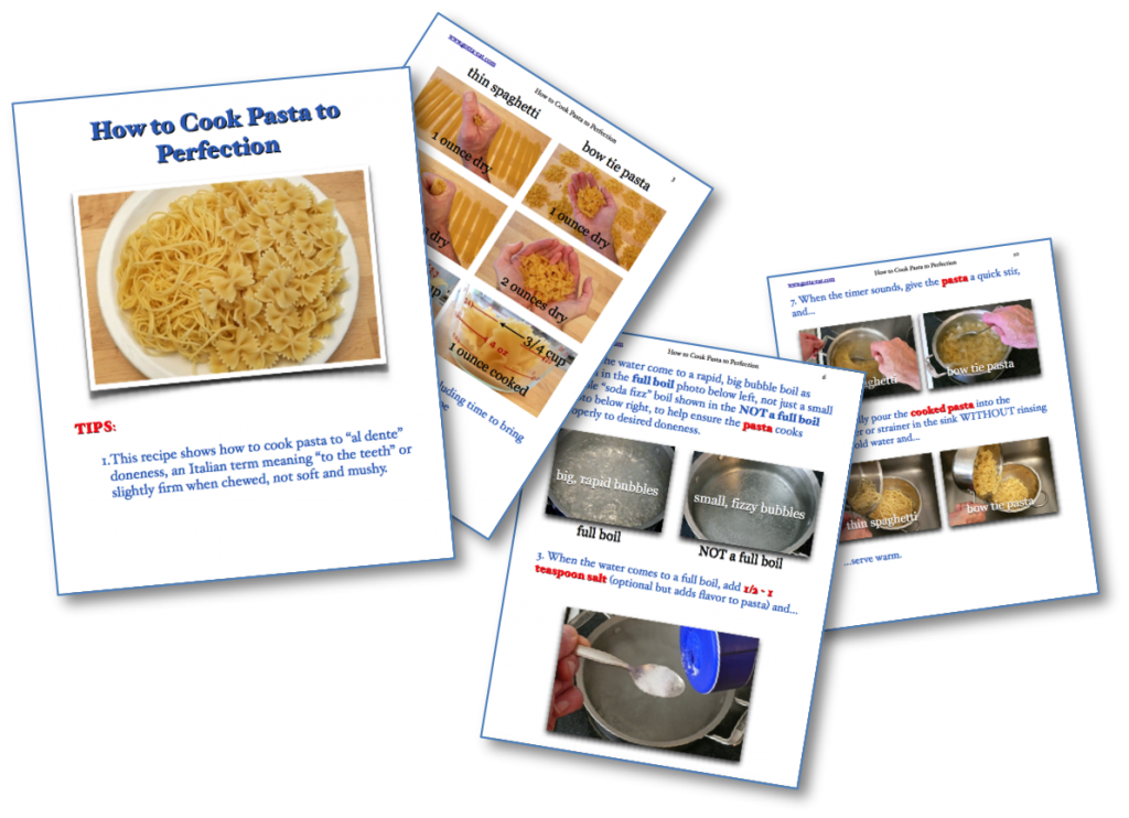 How to Cook Pasta to Perfection Picture Book Recipe