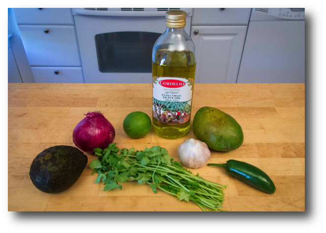 Avocado and Mango Salsa Ingredients