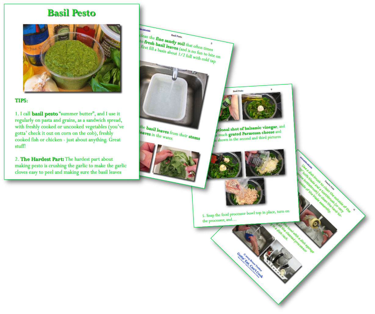 Basil Pesto Picture Book Recipe