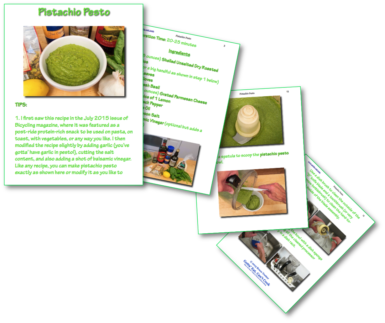 Pistachio Pesto Picture Book Recipe