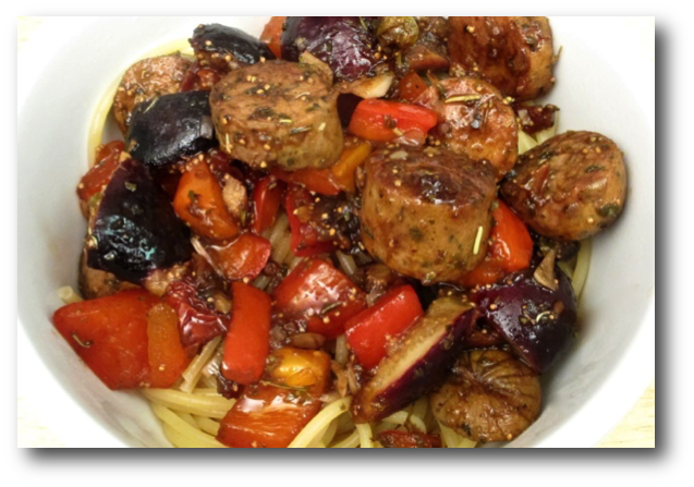 Pasta with Sausage and Fresh Fig Sauce