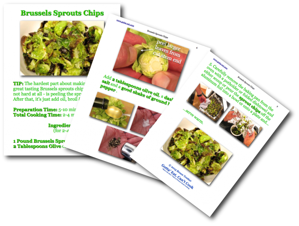 Brussels Sprouts Chips Picture Book Recipe