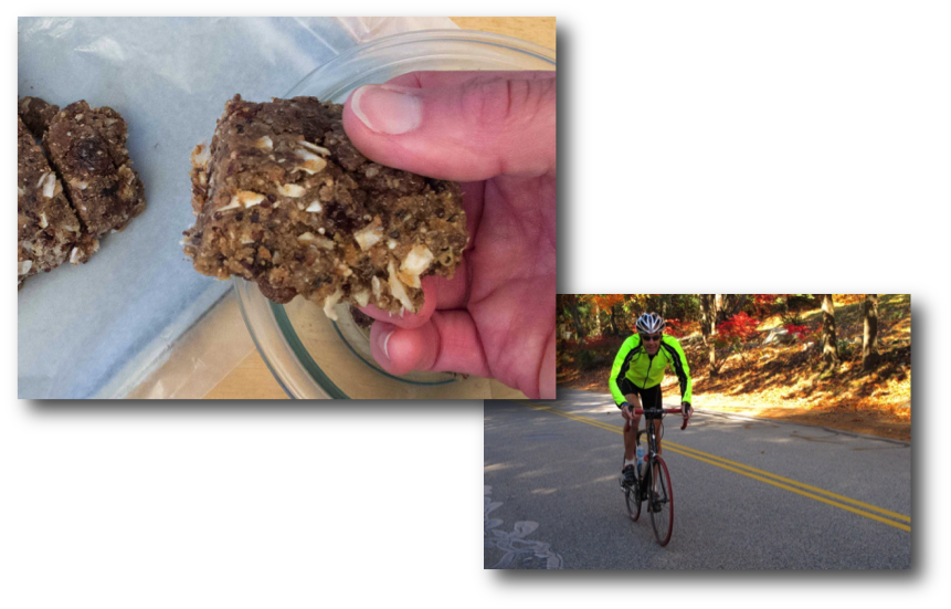 Quinoa Power Bars & Bruce on Bike