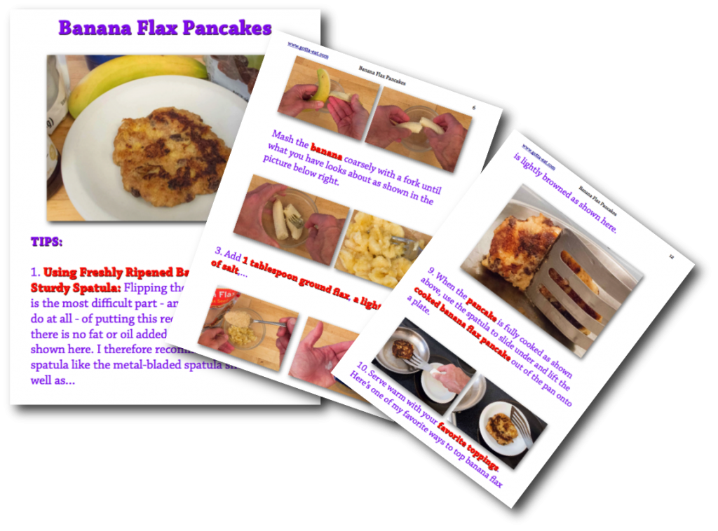 Banana Flax Pancakes Picture Book Recipe