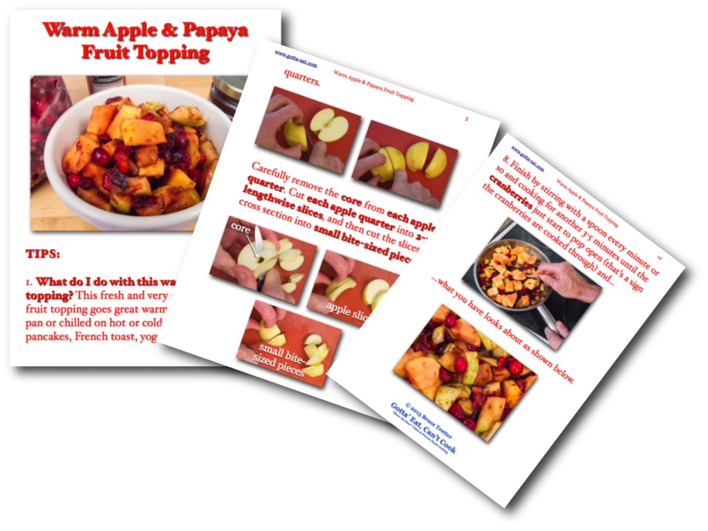 Warm Apple & Papaya Fruit Topping Picture Book Recipe