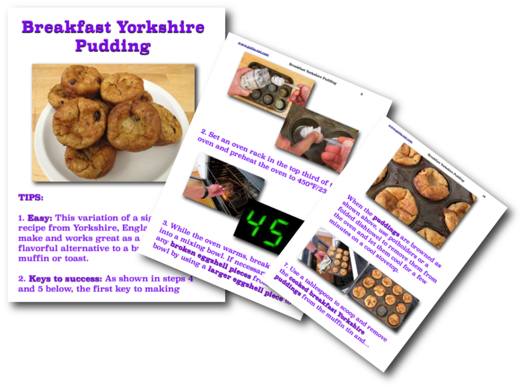 Breakfast Yorkshire Pudding Picture Book Recipe