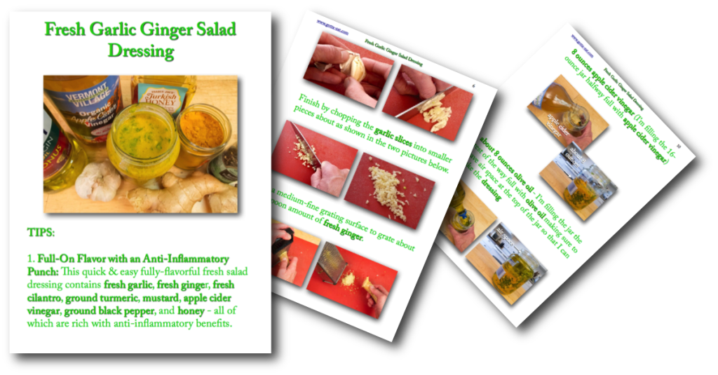 Fresh Garlic Ginger Salad Dressing Picture Book Recipe