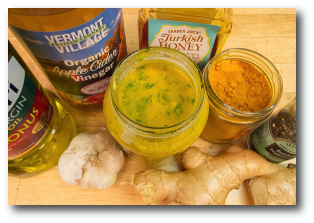 Fresh Garlic Ginger Salad Dressing