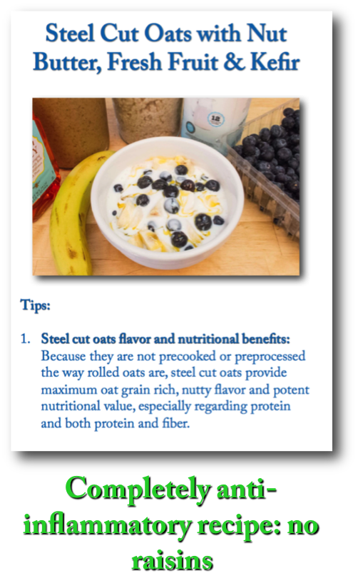 Steel Cut Oats w. Nut Butter, Fruit & Kefir AID recipe