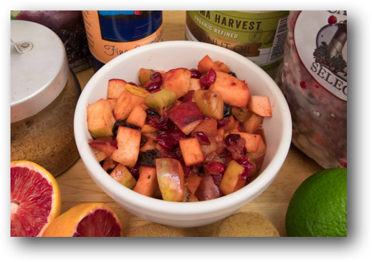 Apple Kiwi and Cranberry Fruit Topping